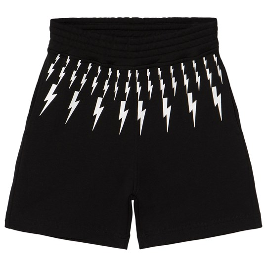 Neil Barrett Black Lightning Bolts Print Shorts 110