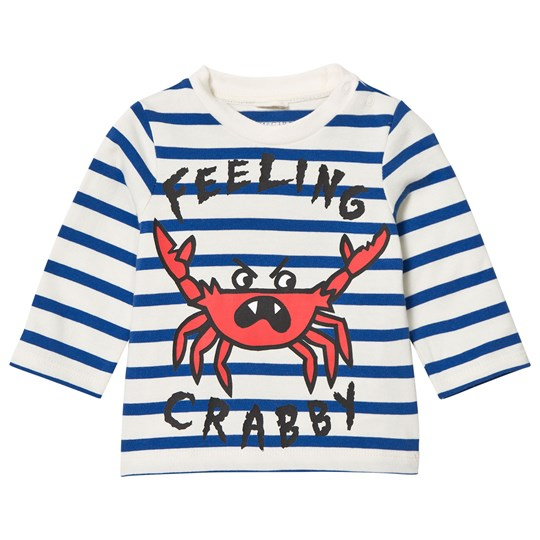 Stella McCartney Kids Blue and White Feeling Crabby Ted Tee 4265