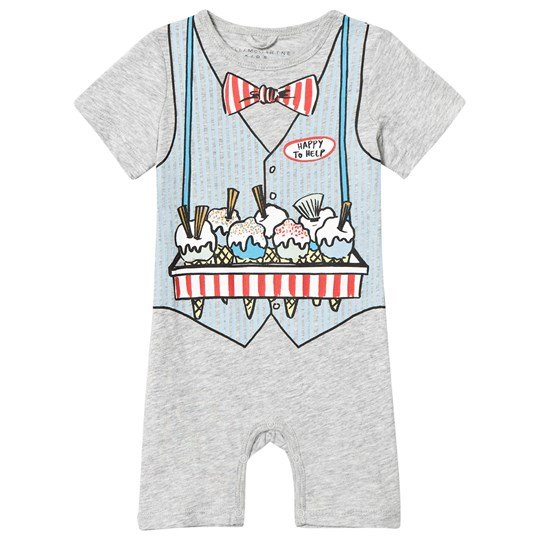 Stella McCartney Kids Grey Ice Cream Seller Kit Jersey Romper 1461