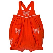 Stella McCartney Kids Bow Embroidered Gemini Romper Röd 6562