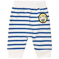 Stella McCartney Kids Blue Pudding Stripe Pull Up Trousers