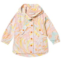 Stella McCartney Kids Multi Marble Print Sam Water Repellent Parka 5771