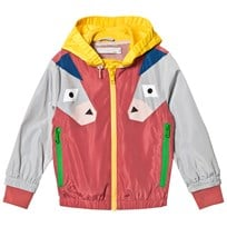 Stella McCartney Kids Red Color Block Donkey Panel Scout Windbreaker 5960