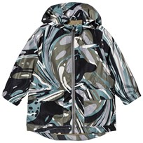 Stella McCartney Kids Grey Marble Beck Print Water Repellent Parka 1362