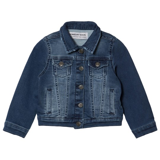 Someday Soon Empire denim Jacket Blue Blue