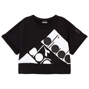 Image of Diadora Black Branded Short Sleeve Sweater L (12 years) (2939924561)
