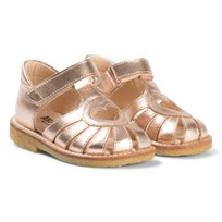 Angulus Rose Gold Heart Cut Out Sandals Metal - 1311