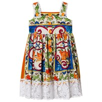 Dolce & Gabbana Majolica Print Cotton Dress HW681