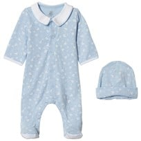 Petit Bateau Blue Footed Baby Body Set