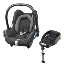 Maxi-Cosi CabrioFix Car Seat + EasyFix Base Black Diamond Black Diamond