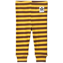 Mini Rodini Randiga Ribbade Leggings Gul Yellow
