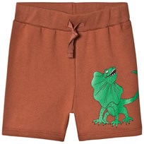 Mini Rodini Draco Sweatshorts Brown BROWN
