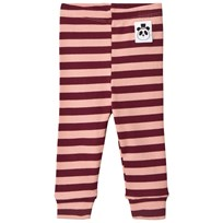 Mini Rodini Randiga Ribbade Leggings Rosa Pink