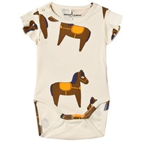 Mini Rodini Horse Wing Baby Body Gul Yellow
