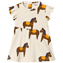 Mini Rodini Horse Dress Yellow Yellow