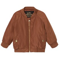 Mini Rodini Draco Baseball Jacket Brown BROWN
