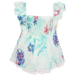 Mexx Girls Blouse Turquoise Flower