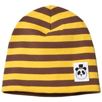 Mini Rodini Stripe Rib Beanie Yellow Yellow