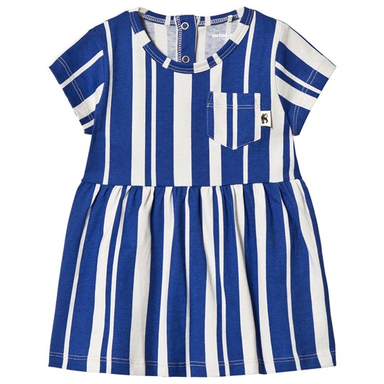Mini Rodini Odd Stripe Dress Blue Blue