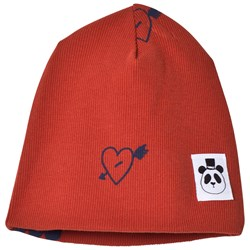 Mini Rodini Heart Rib Beanie Red