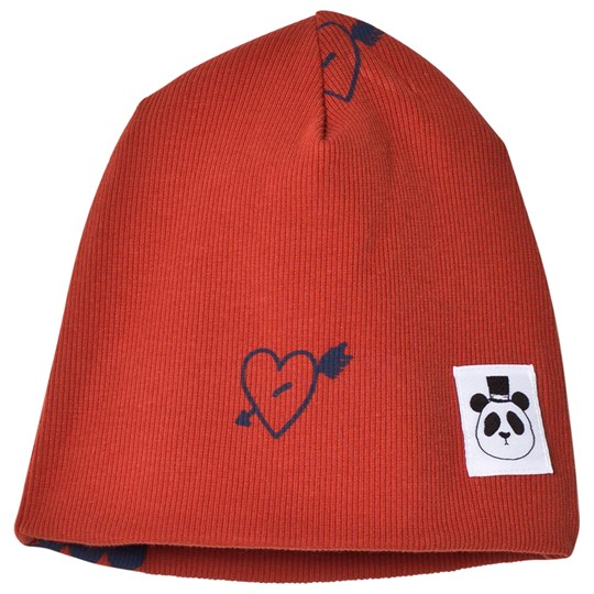 Mini Rodini Heart Rib Beanie Red Punainen