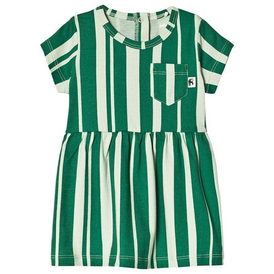 Mini Rodini Odd Stripe Dress Green Green