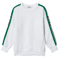 MSGM White Shoulder Logo Sweatshirt 001