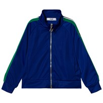 MSGM Blue Logo Stripe Zip Thru Track Jacket 130