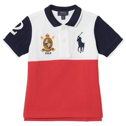 Ralph Lauren White, Red and Navy Big Pony Polo