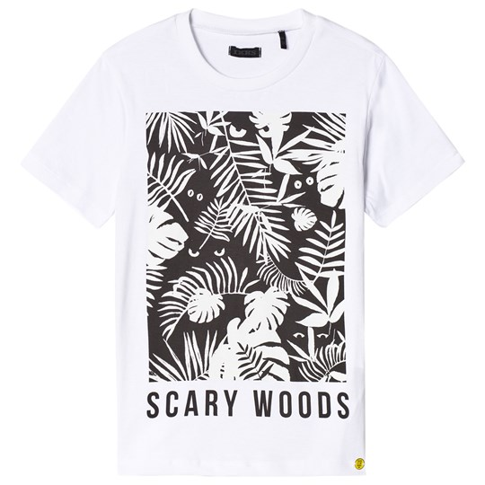 IKKS White Scary Woods Glow in the Dark Print Tee 01
