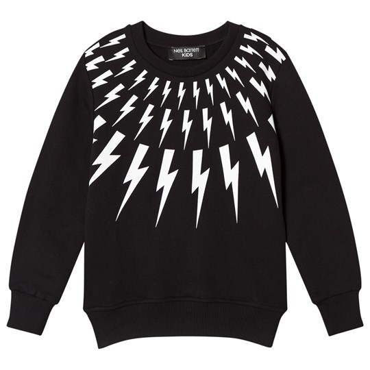 Neil Barrett Black Lightning Bolts Print Sweater 110
