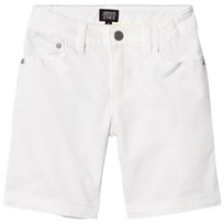Armani Junior White Denim Shorts 1100