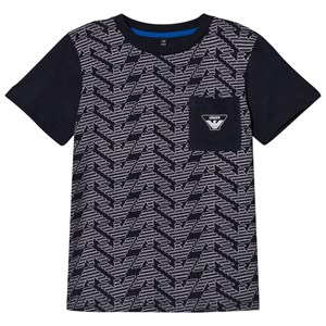 Image of Emporio Armani Navy Eagle Branded Front Pocket Tee 12 years (2941128903)