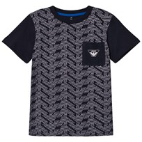 Armani Junior Navy Eagle Branded Front Pocket Tee 15K5