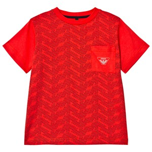 Image of Emporio Armani Red Eagle Branded Front Pocket Tee 10 years (2941130209)