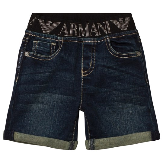Emporio Armani Dark Blue Denim Shorts 1500
