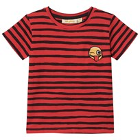 Soft Gallery Bass T-shirt Flame Scarlet Ribbon Flame Scarlet AOP Ribbon Big Smiley Emb.
