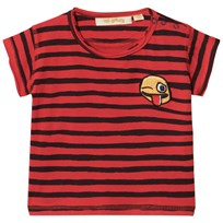 Soft Gallery Baby Ashton T-shirt Flame Scarlet Ribbon Flame Scarlet AOP Ribbon Big
