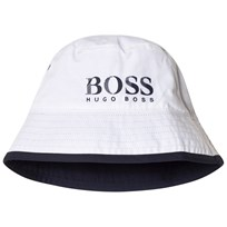 BOSS Navy Reversible into White Branded Bucket Hat N68