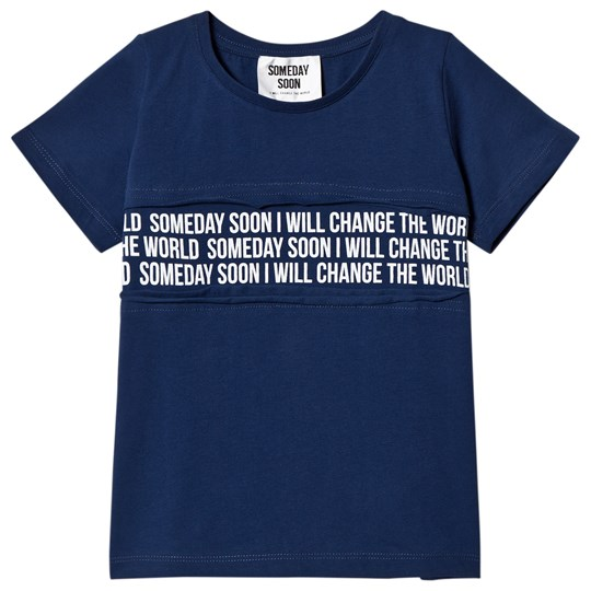 Someday Soon Mateo T-Shirt Blue Blue