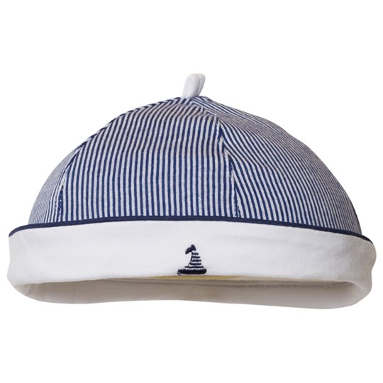 Mayoral Navy and White Stripe Sailor Hat 55
