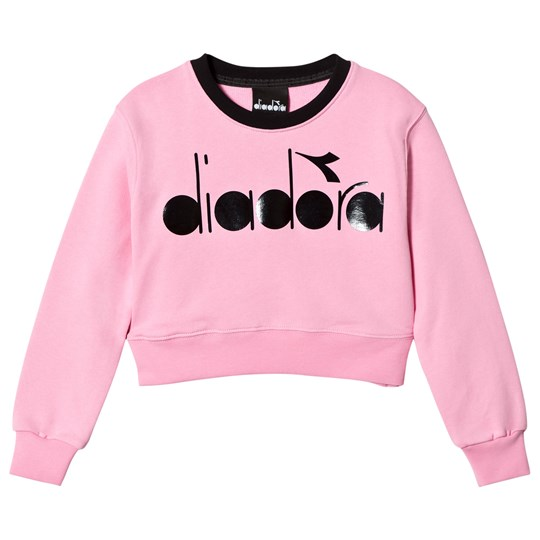 Diadora Pink Branded Crop Sweater 42