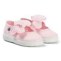 Victoria Mary Jane Canvas Sandals with a Floppy Bow Rosa Rosa