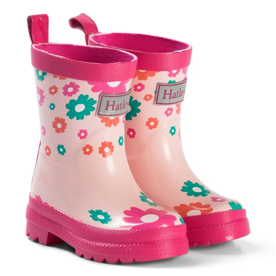 Hatley Pink Scattered Flowers Rain Boots Pink