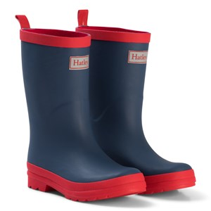 Image of Hatley Navy & Red Rain Boots 21 (UK 4) (994001)