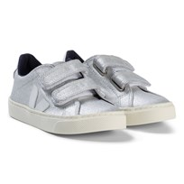 Veja Esplar Velcro Leather Silver Sneakers Silver White