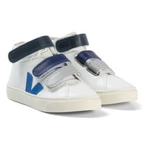 Veja Esplar Mid Leather White Electric Extra White Blue