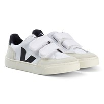 Veja V-12 White Black Sneakers Canvas White Black