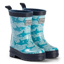 Hatley Shark Alley Rain Boots Blue Blue