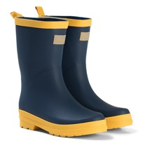 Hatley Navy and Yellow Rain Boots Navy